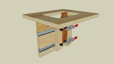 Router Tenon Jig The 3d Warehouse