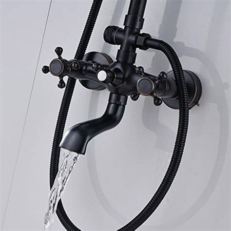 Rozin Luxury Oil Rubbed Bronze Bathroom Shower Faucet Set .