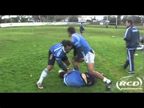 @ Rugby Coaching Drills - Duck And Clean Rucking Technique.