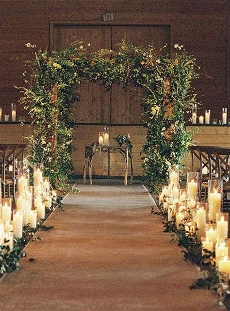 Rustic Garden Arch With Candles