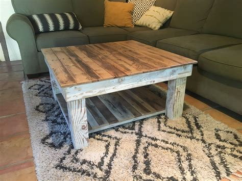 Rustic Hardwood Coffee Table
