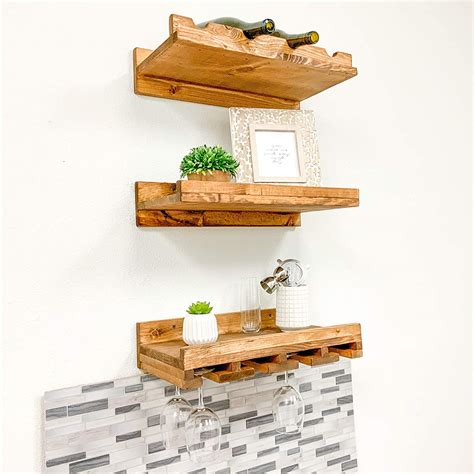 Rustic Luxe Tiered Wine Racks Set Of 3 - Del Hutson Designs.