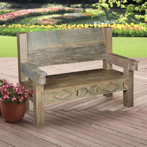Rustic Outdoor Benches For Front Porch