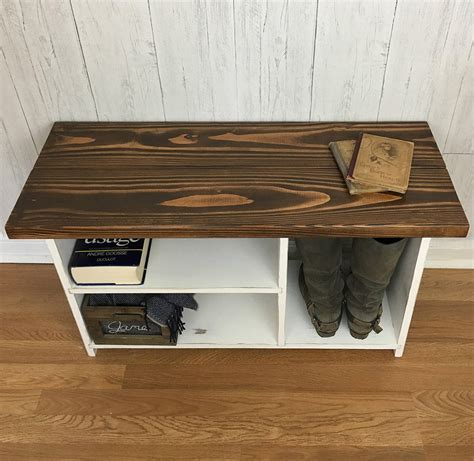 Rustic Wood Bench Shoe Storage Plans