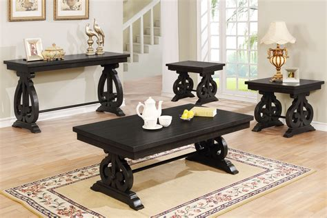 Rustic Wood Coffee Table Sets