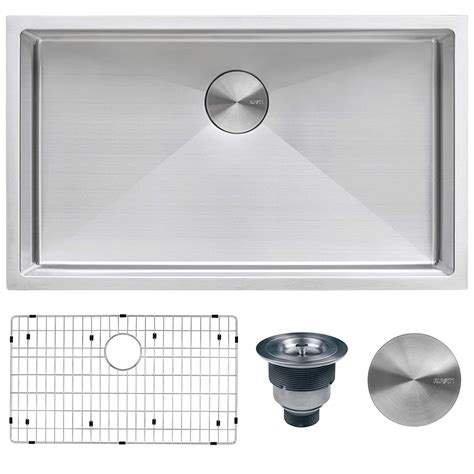 Ruvati 30-Inch Undermount 16 Gauge Tight Radius Kitchen .