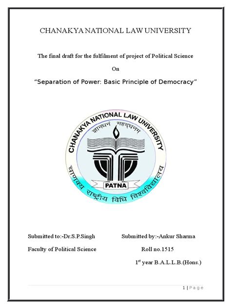 [pdf] Separation Of Powers - Political Science.