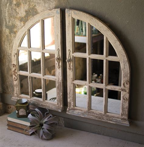 Set Of Two Arched Window Mirrors - - Amazon Com.