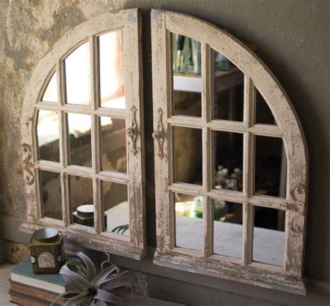 Set Of Two Arched Window Mirrors 841628129939  Ebay.