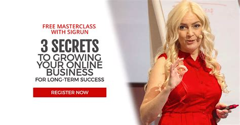 Sigrun - Grow Your Online Business For Longterm Success.