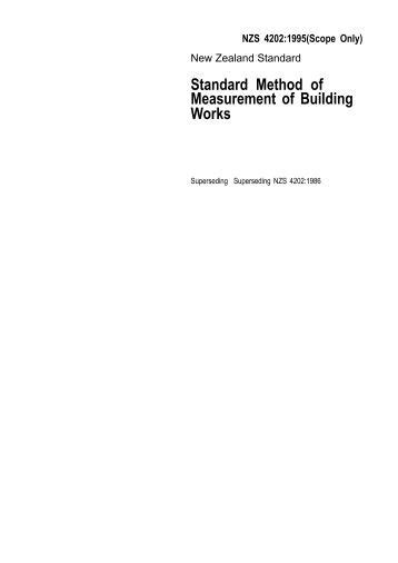 [pdf] Standard Method Of Measurement For Building Elements.