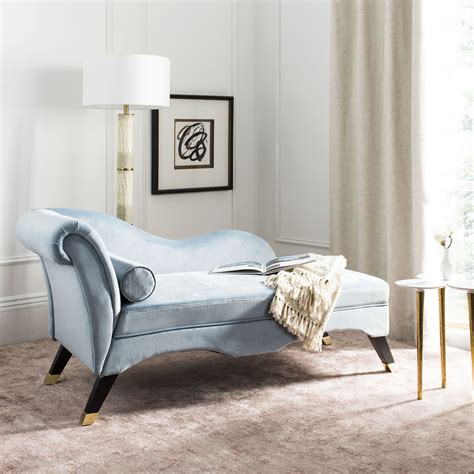 Safavieh Caiden Retro Chic Velvet Chaise With Pillow .