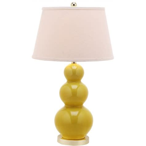 Safavieh Pamela 28-Inch H Triple Gourd Ceramic Lamp Set .