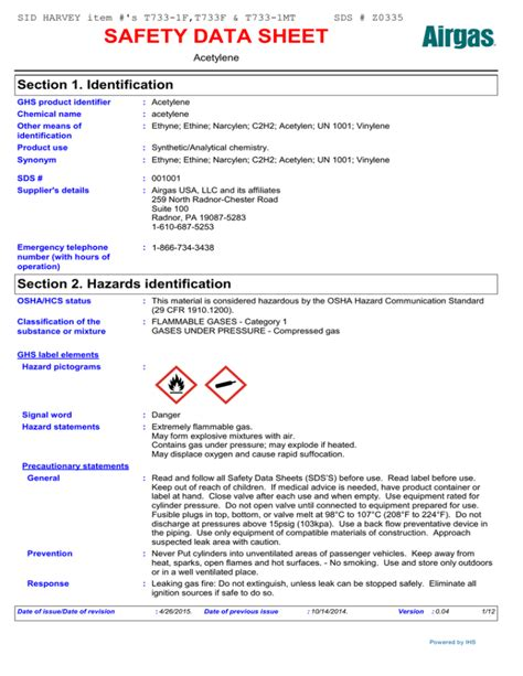 [pdf] Safety Data Sheet Section 1 Identification.