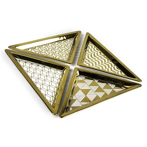 Sagebrook Home Triangle Decorative Tray - Set Of 4.