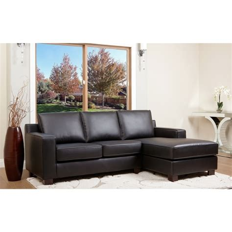 Sale  Abbyson Living Beverly Black Leather Sectional .