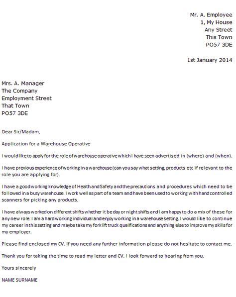sample cover letter for warehouse position   professional resume    sample cover letter for warehouse position