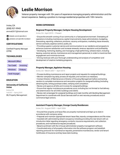 Property Management Resume Samples Business Development Manager Free Examples And Paper Project Cv Profile