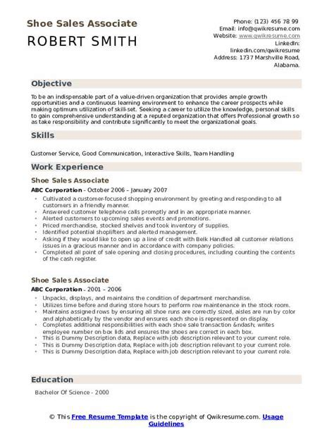 stunning resume for shoe sales associate photos simple resume