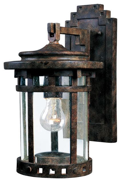 Santa Barbara Cast 1-Light Outdoor Wall Lantern  763537 .
