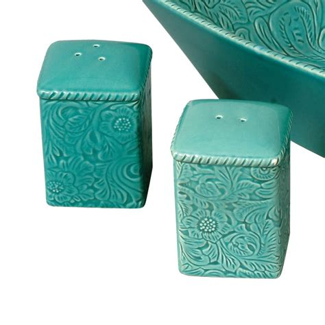 Savannah Turquoise Salt  Pepper Shakers.