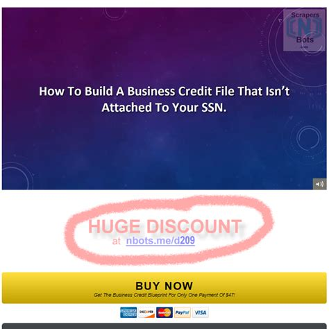 [click]save Business Credit Blueprint By Brian Diez Promo Today .