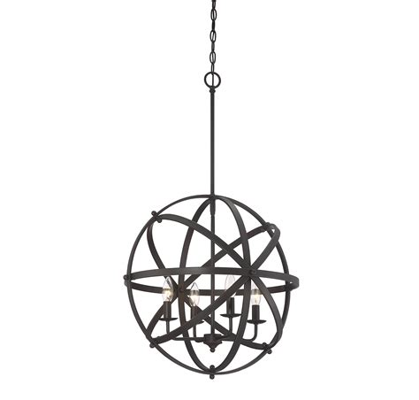 Savoy House Dias 4-Light Orb Pendant In English Bronze