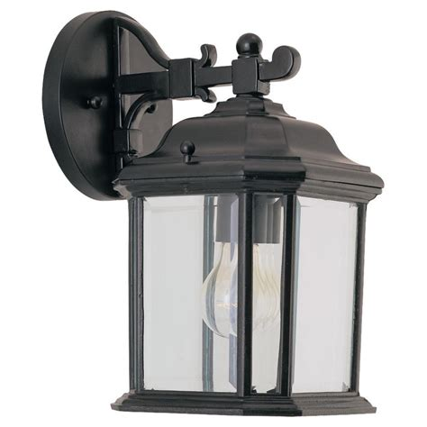 Sea Gull Lighting Kent 1-Light Outdoor Wall Lantern In Black.