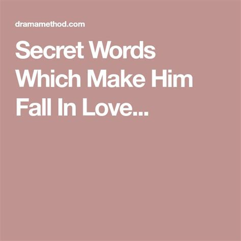 [pdf] Secret Words Which Make Him Fall In Love Hope.