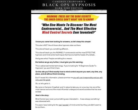 @ Secrets Of Covert Hypnosis  Black Ops  Darkside Edition.
