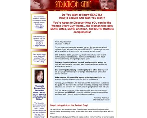 Seduction Genie - How To Attract Men For Women Review - Youtube.