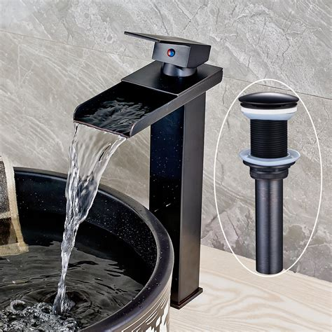 Senlesen Waterfall Bathroom Faucet Sink Vessel Single .