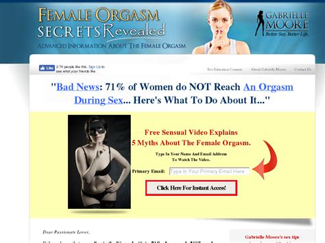 Sex Advice Education Programs By Gabrielle Moore Best Discount.