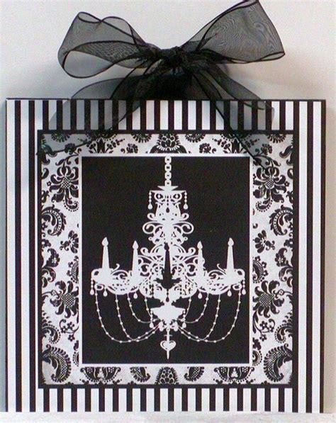 Shabby Damask Stripes Black And White Chic French .