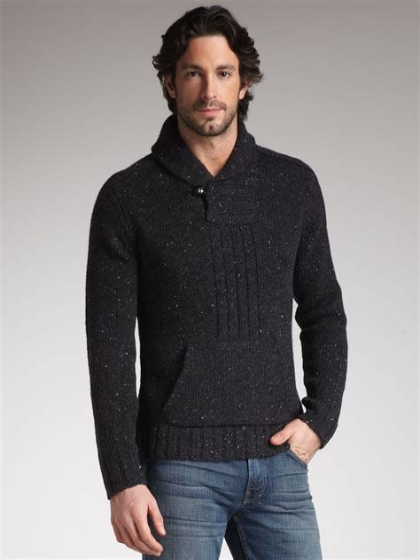 Shawl Collar Sweaters for Men 5X