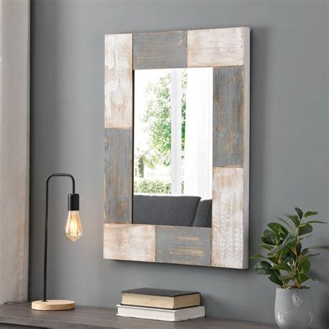 Shop Firstime  Mason Planks Mirror - Grey - Free Shipping .