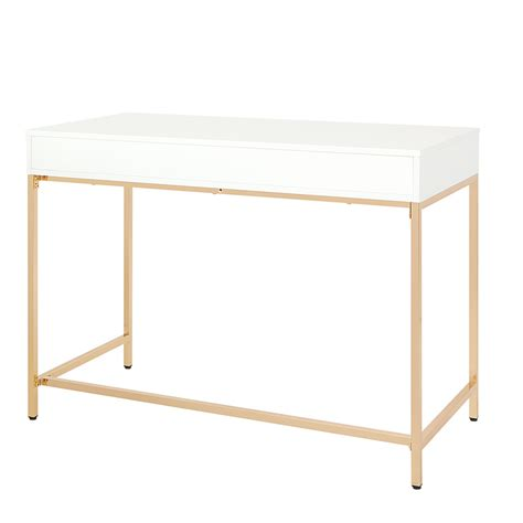 Shop Osp Home Furnishings Alios Desk With White Gloss .