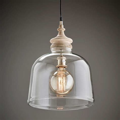 Shopping Special Mango Wood And Glass Pendant Light.