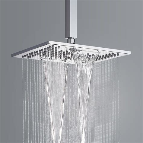 Shower Heads  Square Shower Head  Waterfall  - Soak Com.