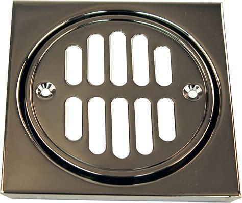Shower Strainer Set Square With Crown Oil Rubbed Bronze.