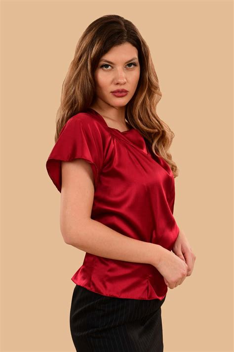 Silk Satin Blouse Women