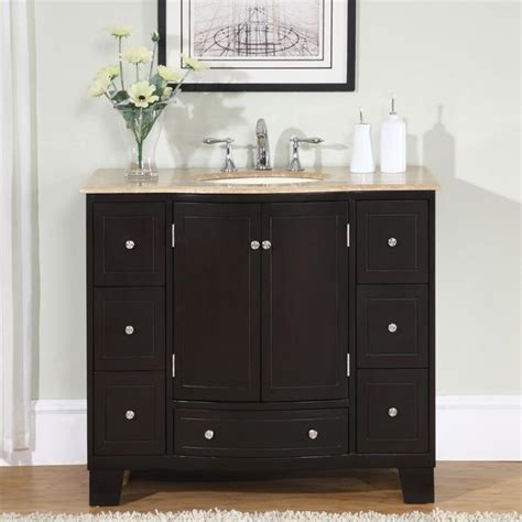 Silkroad Exclusive 40-Inch Single Sink Cabinet Bathroom .