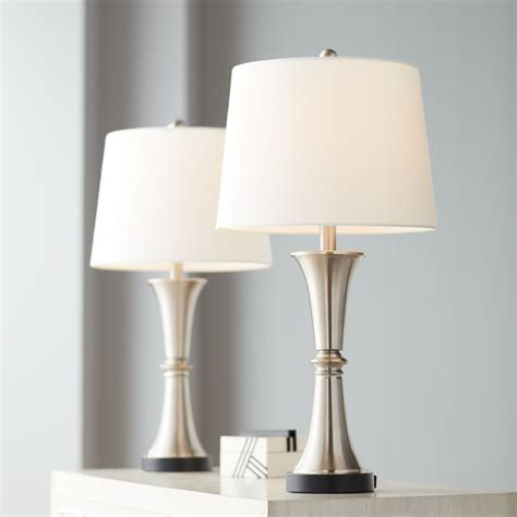 Silver Bedroom Table Lamps  Lamps Plus.