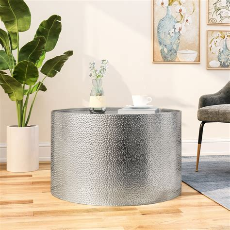 Silver Coffee Table Round