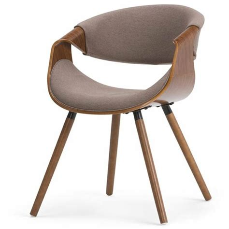 Simpli Home Wayland Bentwood Upholstered Dining Chair.