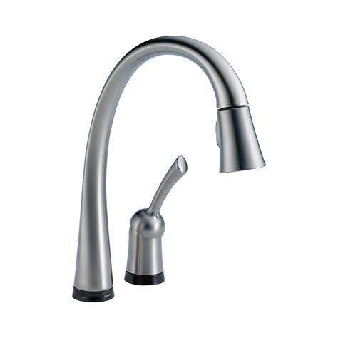Single Handle Pull-Down Kitchen Faucet With Touch2o .
