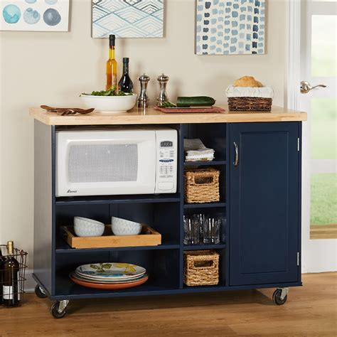 Small Kitchen Cart Microwave
