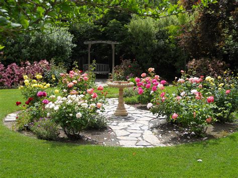 Small Rose Gardens In Backyards