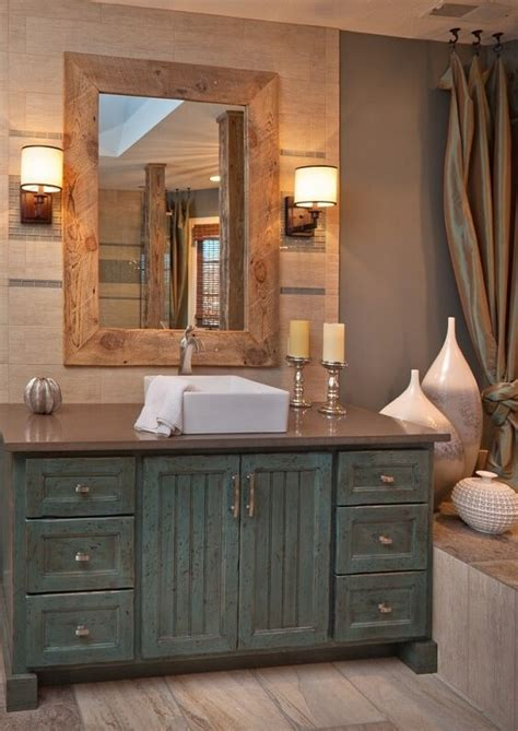 Small Shabby Chic Whitewashed Wood Bathroom Vanity With .