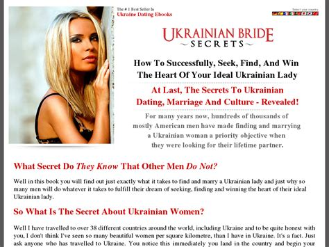 @ So You Want To Marry A Ukrainian Lady - A Guide To Ukrainian Dating Review.